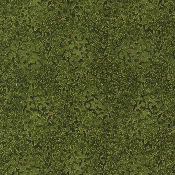 Robert Kaufman Metallic Evergreen 6644 224