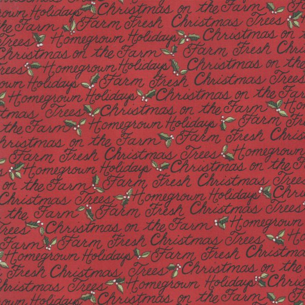 Moda Deb Strain Homegrown Holidays Barn Red 19943 13