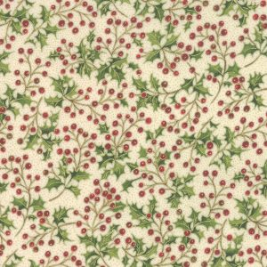 Moda Poinsettias Pine Cream 33514 11M Metallic