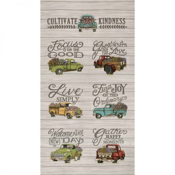 deb strain cultivate kindness panel Galvanized Grey