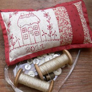 Gail Pan Red Cottage Pincushion