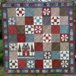 Gail Pan Somerhill House huisjes quilt