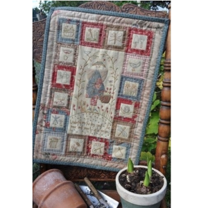 Anni Downs Peaceful Garden voor Hatched and Patched quiltje