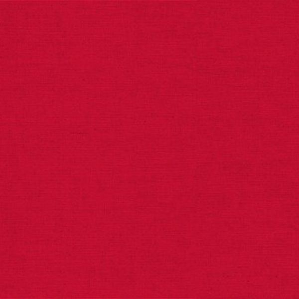 Makower Linen Cotton Solid Dye 1000 LCR6 Red