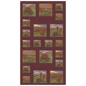 Moda Holly Taylor Country Charm 6790 13 Rustic Red Panel